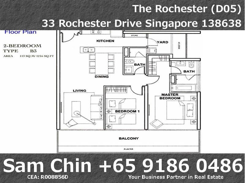 The Rochester – Floorplan 2 Bedroom – 1216sqft