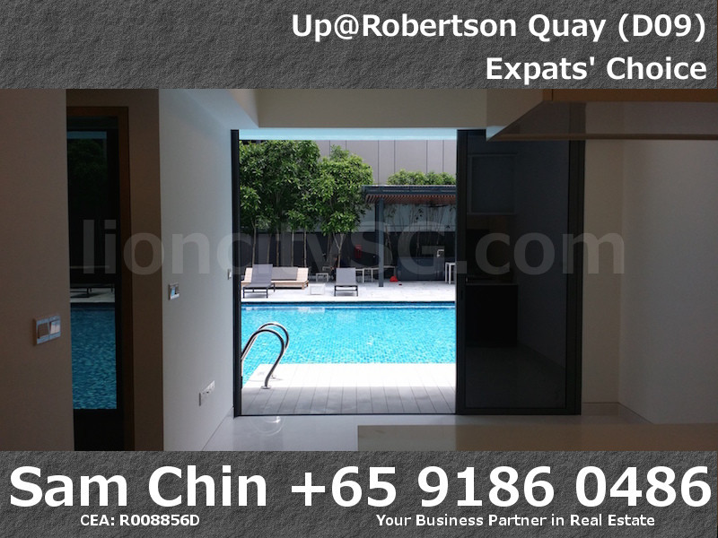 UpAtRobertsonQuay – 1 Bedroom – S6 – Living and Pool