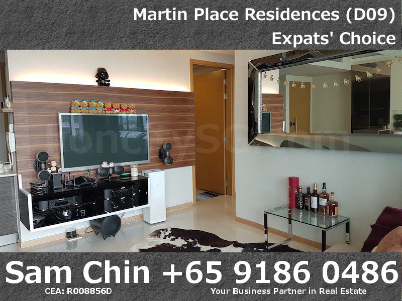 Martin Place Residences – Designer 2 Bedroom – S06 – Living Room