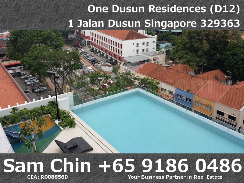 One Dusun Residences – 2 Bedroom – S7 – Balcony – Lap Pool View – 1