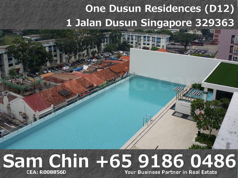 One Dusun Residences – 2 Bedroom – S7 – Balcony – Lap Pool View – 2
