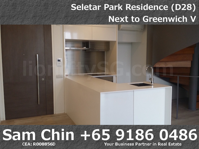 Seletar Park Residence – 2 Bedroom – S37 – Entrance and Open Kitchen – 1