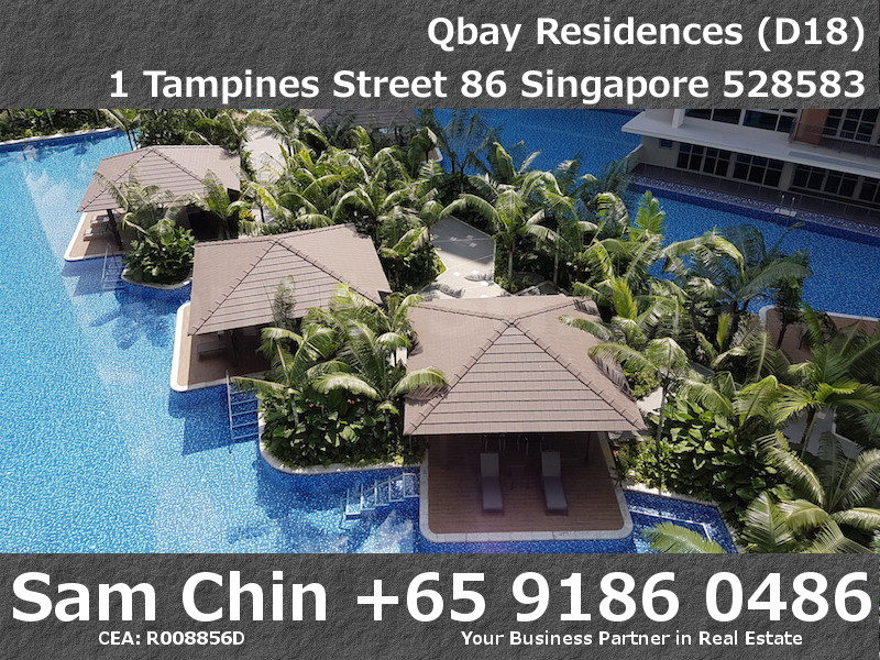Qbay Residences – 1+Study – S08 – Balcony View – Pool – 2