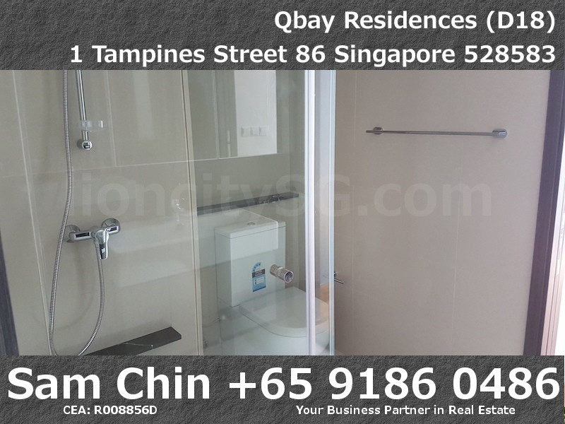 Qbay Residences – 1+Study – S08 – Bathroom – 2 Doors – 1