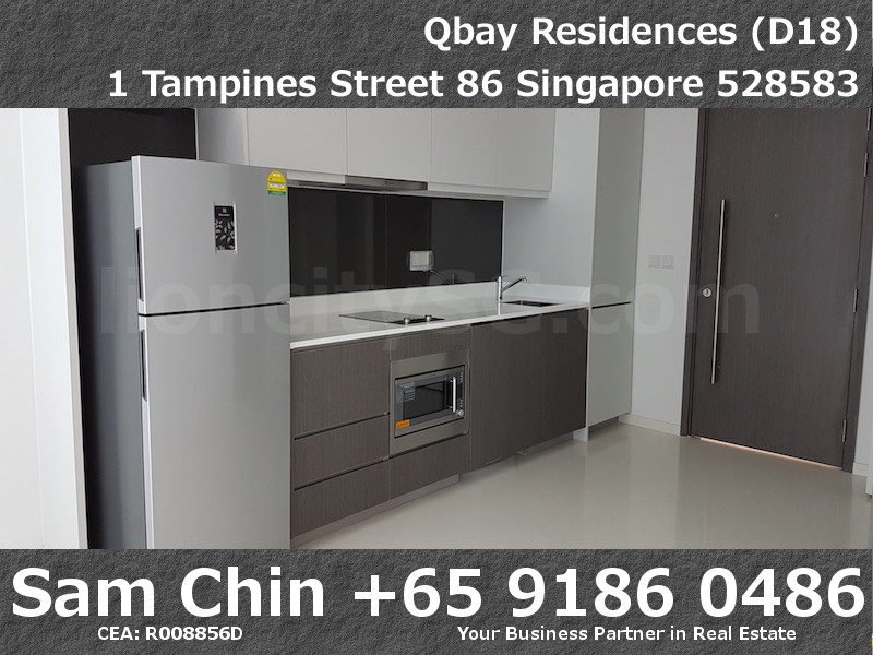 Qbay Residences – 1+Study – S08 – Kitchen