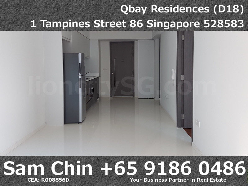 Qbay Residences – 1+Study – S08 – Living and Dining