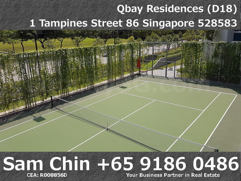 Qbay Residences – Facilities – L1 Tennis Court