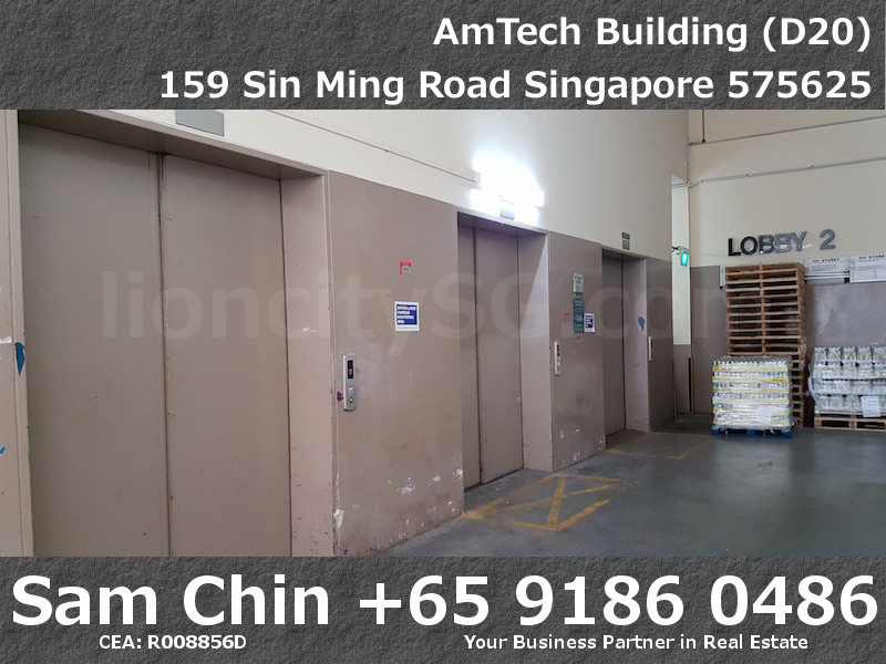 AMTech Building – Industrial – Lobby B – Level 2 – Cargo Lift