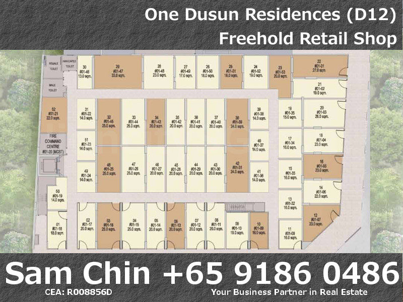 One Dusun Residence – Balestier – Freehold retail shop – Site Map