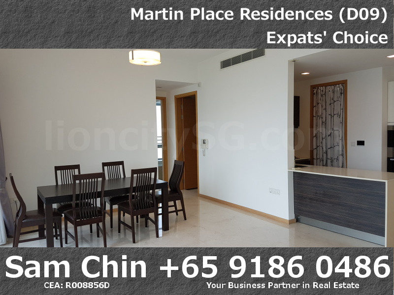 Martin Place Residences – 2 Bedroom – L – S08 – Dining and Kitchen