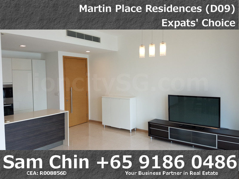 Martin Place Residences – 2 Bedroom – L – S08 – Living and Kitchen – 2